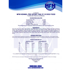 Dog Food, MFM 27/18  Kennel Pak